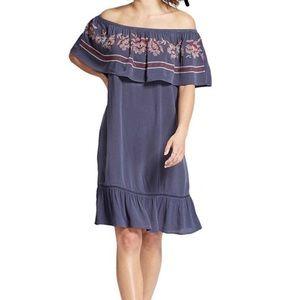 Knox Rose off the shoulder embroidered dress